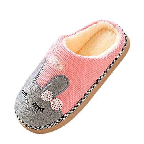 Coton Femme Peluche Slippers Mules Pantoufles Automne Chaussures Couple Rose Homme Intérieure Chaussons Animaux Douce Unisexe Doublure Hiver wEqYY7xpX