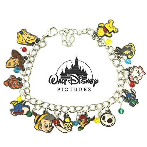 Disney Characters Movie Theme Multi Charms Jewelry Bracelets Charm by Family Brands