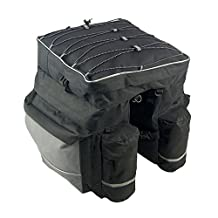Meanhoo Bike Bag Trail Work Lunch Cycling Gear Biking Storage bags Straps Road Trip for Fanny Pack for Biking Hiking Sports Trail Riding Mountain bicycle, Bicycle Rear Rack Seat Pannier Bag