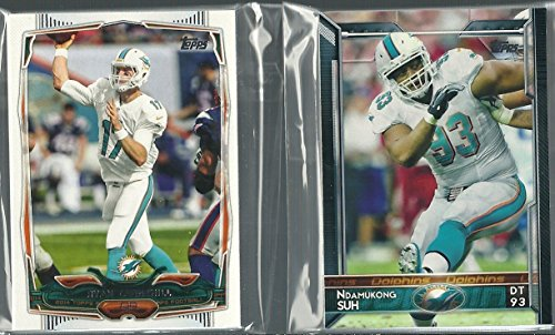 2014 & 2015 Topps Football Miami Dolphins Team Set 28 Cards Jay Ajayi Rookie Card Jarvis Landry Rookie Card Tannehill Wake