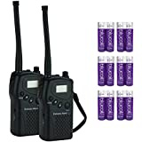 Dakota Alert M538-HT MURS 2-Way Wireless Transceiver - Handheld Radio (2 Pack) Bundled 12 Pack Blucoil AA Batteries