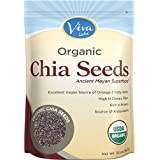 Viva Labs Organic Chia Seeds Bag, 2 Pound (Packaging May Vary)