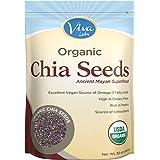 Viva Labs Organic Chia Seeds Bag, 2 Pound (Packaging May Vary)