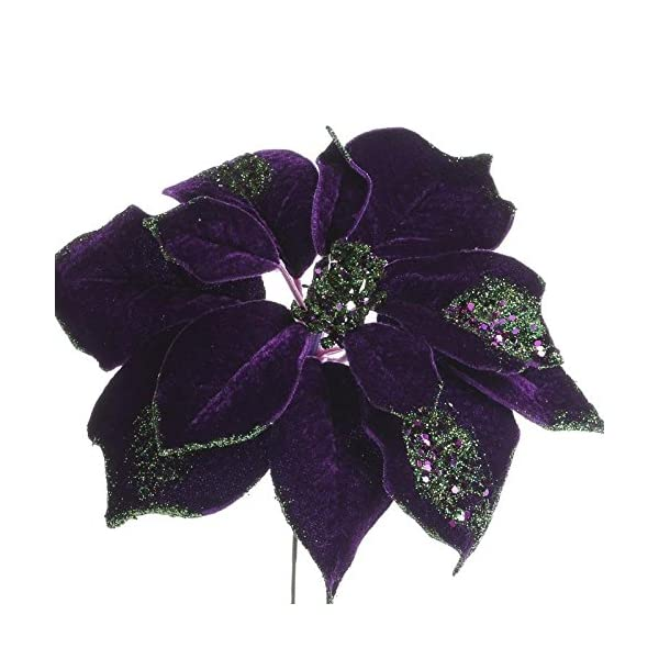 Factory-Direct-Craft-Trio-of-Rich-Shimmering-Artificial-Purple-Poinsettia-Floral-Stems-for-Holiday-Decor-Centerpieces-and-Displays