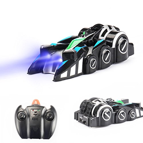 Jujuism Remote Control Wall Climbing Car Stunt Car Sport Racing Vehicle 360° Rotating Toys for Kids Boys Girls
