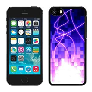 New Personalized Custom Designed For iPhone 5C Phone Case For Blue Abstract Cubes with Pink Curves Phone Case Cover