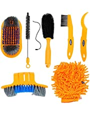 BESPORTBLE Bike Cleaning Tools Set Bicycle Brush Kit with Bike Chain Scrubber Maintenance Tool for Mountain Road City Crank Tire Sprocket Cycling Corner Stain Dirt