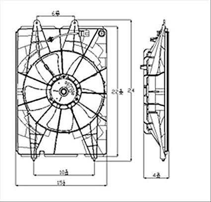 amazon com oe replacement honda ridgeline radiator cooling fan rh amazon com