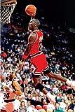 Michael Jordan Famous Foul Line Dunk Sports Poster Print 24x36 inches.