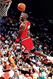 Michael Jordan Famous Foul Line Dunk Sports Poster Print 24x36 inches.