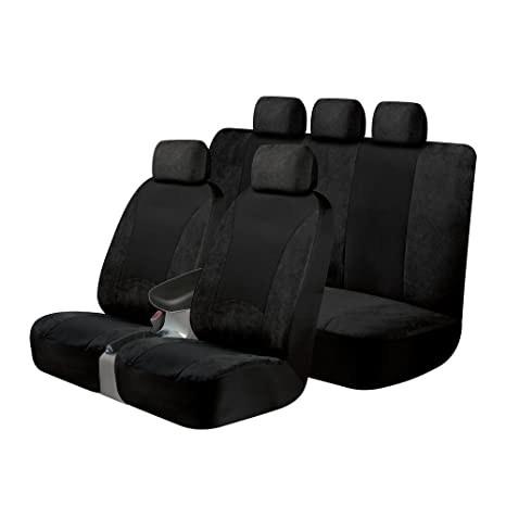 Peachy Kraco 805367 Universal Fit 3 Piece Sgx Scotchgard Seat Cover Kit Contains 2 Low Back Seat Covers And 1 Standard Bench Seat Cover Black Ncnpc Chair Design For Home Ncnpcorg
