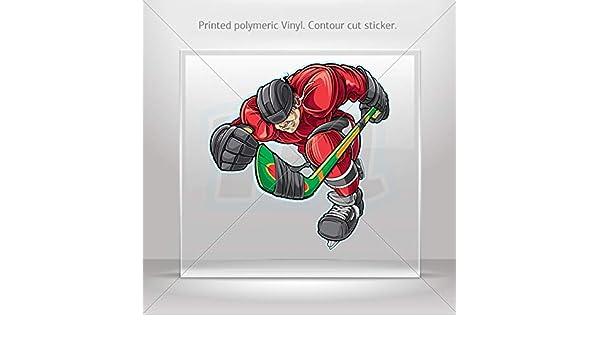 Adhesivos de vinilo jugador de Hockey sobre hielo ataque Tablet ...