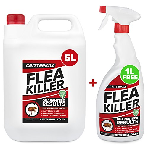 CritterKill 5+1L FREE Professional Flea Killer Spray | Guaranteed Results |...