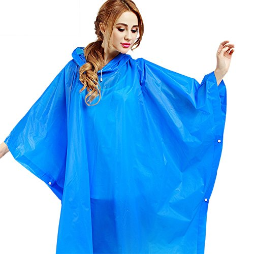 Aircee Long Raincoat Women Reusable Rain Poncho Men Rain Coat Adults Durable Rainwear Packable Rain Jacket