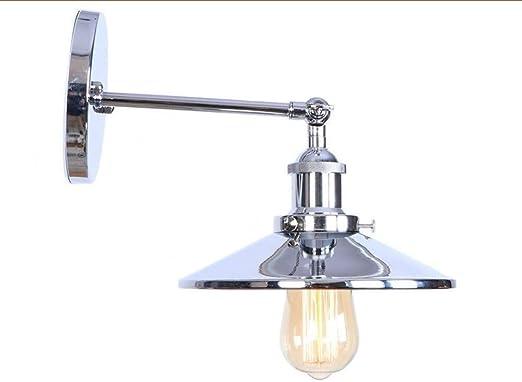 SHENYUAN-Lámparas de Pared Vintage Elegance Silver Arm LED Lámpara de Pared Dormitorio Escalera Loft Estilo Industrial Lámpara de Pared Vintage Lámpara de Pared E27 Fuente de luz: Amazon.es: Hogar