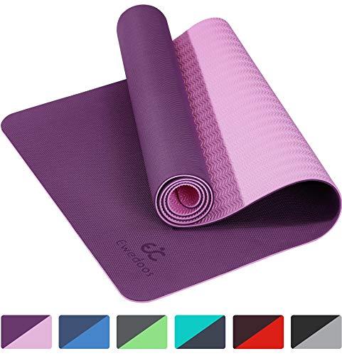 Ewedoos Yoga Mat Non Slip TPE Yoga Mats Exercise Mat Eco Friendly Workout Mat for Yoga, Pilates and Floor Exercise Thick…
