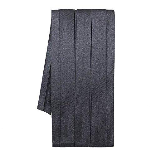 Sakura Satin Bias Tape Fold - Single Fold, Dark Grey 12 Mm. (3 Yards/Pack) Set of 4 ()