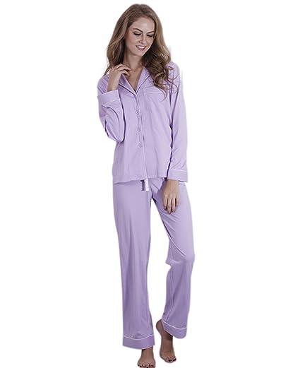 522d1784adba EverChic Womens Pajama Set Women s Long Sleeve Sleepwear Soft ...