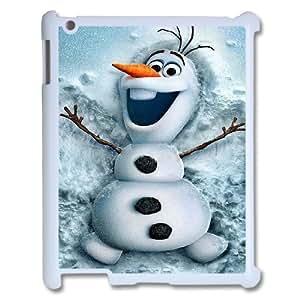 Custom Frozen Disney 3D Movie Olaf Cute Snowman Hard Case for Ipad 2,3,4 Case Cover APL750007