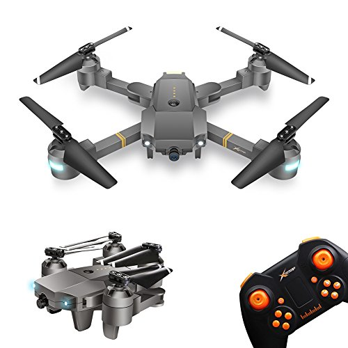Foldable Drone with Camera, WINGLESCOUT FPV RC Quadcopter with 720P Wide-Angle Live Video Camera and Gravity Sensor, Trajectory Flight Mode, AR Games,Headless Mode Remote Control Helicopter.