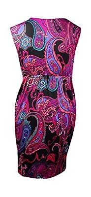 NY Collection Women's Paisley Print Pocket Dress