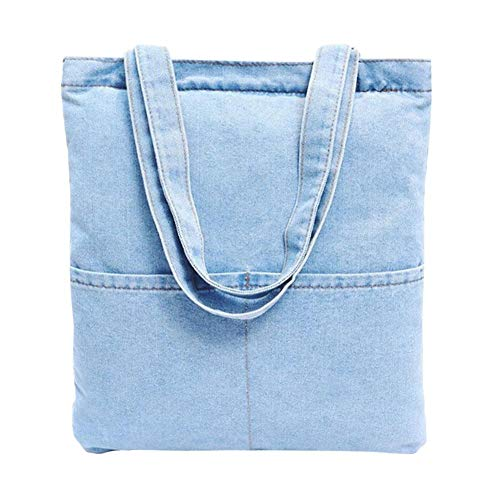 Denim Women's Handbag Bag Jeans Bag Tote Style Shoulder Casual iShine 6 Retro EOqxw4ES