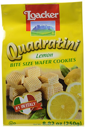 Creme Wafer Cookies (Loacker Quadratini Lemon Wafers, 8.83 oz)