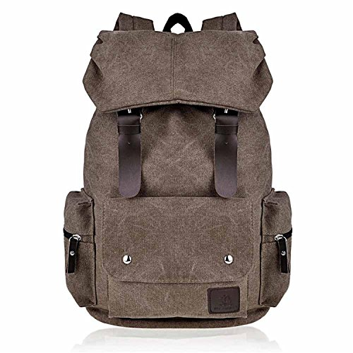 Cheryl Bull Fashion Canvas Backpack for Women & Girls Boys Backpacks for Middle School College Book Bags Khaki
