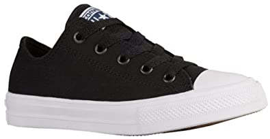 cd0985e80747 Converse Chuck Taylor All Star Ii Ox Casual Junior s Shoes Size 6  Black White