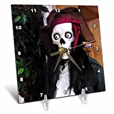 3dRose dc_24614_1 Was a Pirate Desk Clock, 6 by 6-Inch For Sale