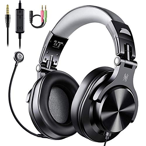 OneOdio Computer Headsets with Microphone - PC Gaming Headphones with Microphone & in-Line Control Mute for Office Zoom Skype Conference Phone Call Laptop Gaming PS4 Online