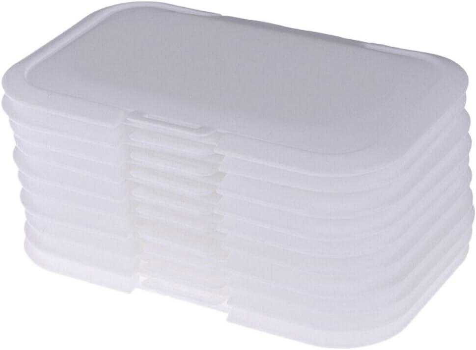 Cavis 10 St/üCk Wiederverwendbare Baby T/üCher Deckel Baby Nass T/üCher Abdeckung Tissues Box Nass Papier Deckel