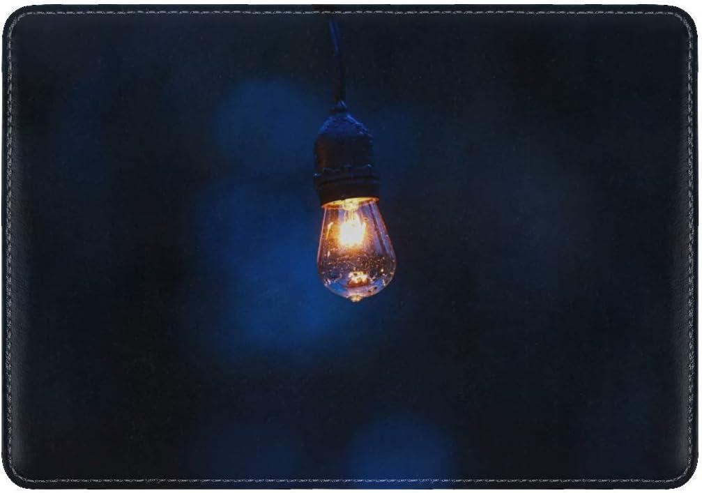 Lamp Lighting Drops Dark Background Leather Passport Holder Cover Case Travel One Pocket
