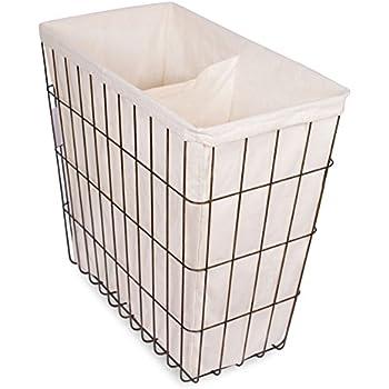 Amazoncom Kindwer Vintage Wire Laundry Basket Hamper Home Kitchen