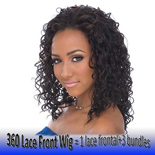 360 Lace Frontal Wig Deep Wave 10 inch Pre Plucked with Baby Hair Curly Human Hair for Black Women 360 Full Lace Front Bleached Knots Free Part