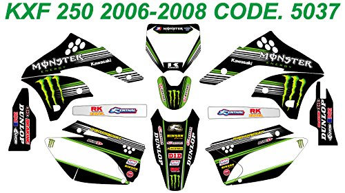 5037 KAWASAKI KXF 250 2006-2008 DECALS STICKERS GRAPHICS KIT