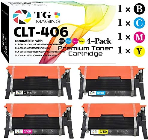 (4 Color Set) Compatible 406S CLT-406S Toner Cartridge, for