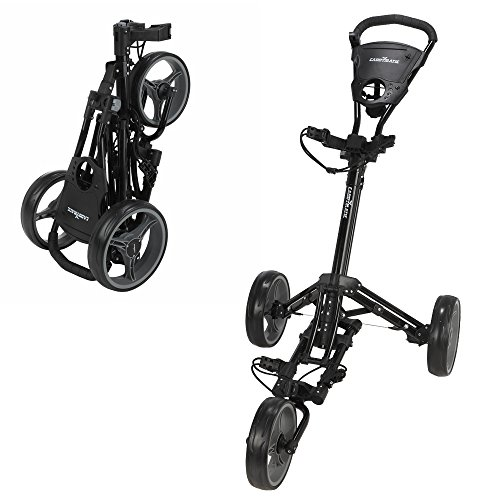 - Caddymatic Golf X-Lite One-Click Folding Pull/Push Golf Cart Black