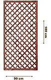 Griglia/Steccato/Pannello grigliato in legno trattato per giardino e terrazzo 180x90cm