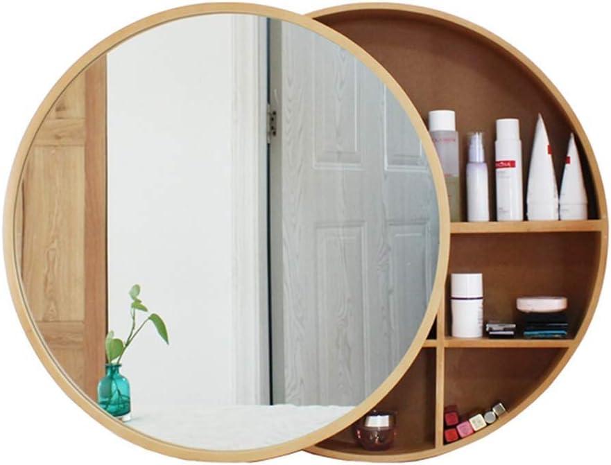 Sdk Mirror Round Bathroom Cabinet Bathroom Wall Storage Cabinet Medicine Cabinet With Steel Slides Stainless Wooden Frame 3 Layer Color Gold Size ø70cm Amazon Co Uk Kitchen Home