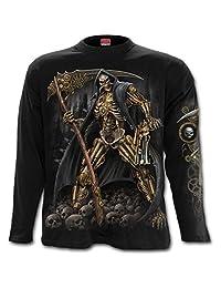 Spiral - STEAMPUNK SKELETON - Longsleeve T-Shirt Black