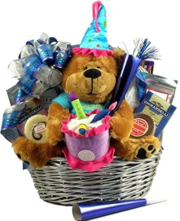 Its My Birthday Gift Basket With Musical Bear And Sweet Treats To Celebrate