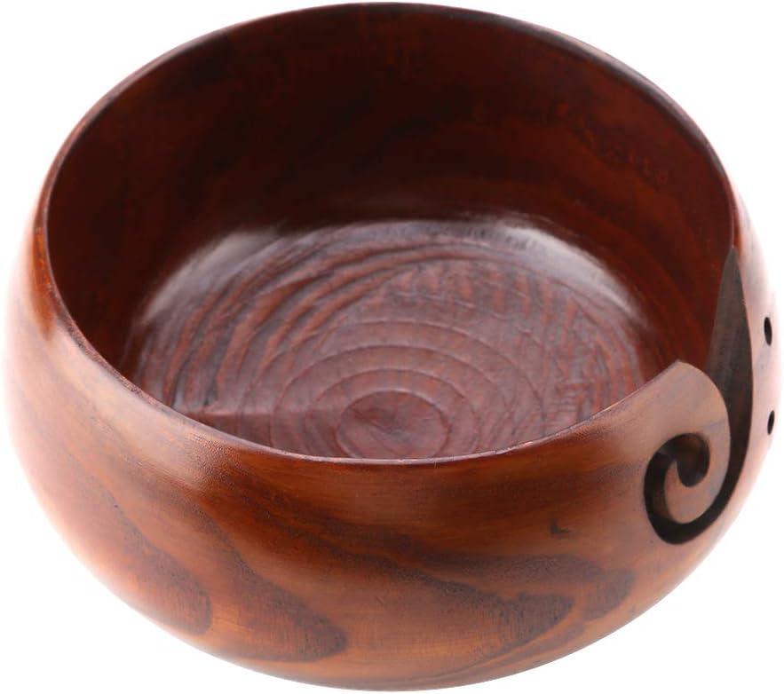 h/äkeln f/ür M/ütter H/äkeln Home Decor h/ölzerne Garn Sch/üssel handgefertigte Keramik braun Garn Sch/üssel zum Stricken Knitting Bowl Caredy Garn Sch/üssel