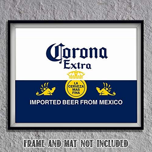 Corona Extra Beer- Logo Poster Print- 10 x 8