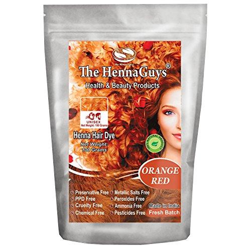 Orange Hair Color (Red / Orange Henna Hair Dye / Color - 1 Pack - The Henna Guys)