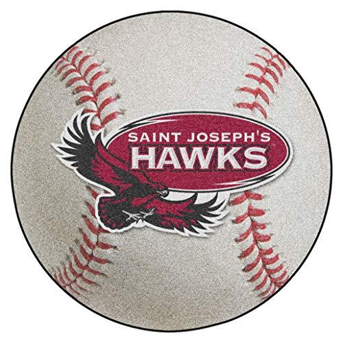 FANMATS NCAA St. Joseph's University Hawks Nylon Face Baseball Rug