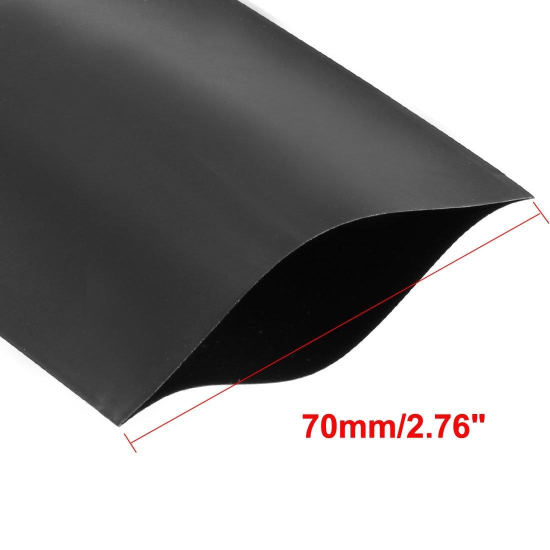 Schwarz Sourcingmap Schrumpfschlauch 5 m PVC 70 mm f/ür 4 x 18650 Schrumpffolie