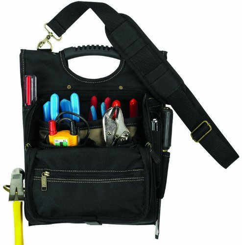 21-Pocket Zippered Professional Electrician Tool Pouch, 15.25