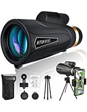 AYRAVIIO 14×65 Monocular Telescope for Adults Kids, High Powered Scope Monocular with Smartphone Holder & Tripod, Low Light Night Vision Monocular, Perfect for Bird Watching, Hiking, Stargazing