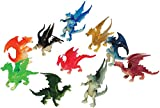 US Toy Assorted Color And Design Mini Dragon Action Figures (12) - Multi Color